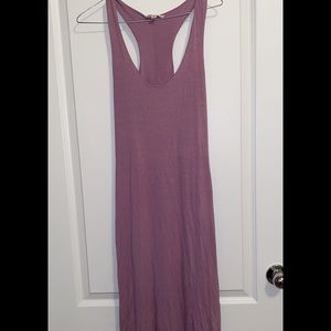 Fitted racerback lavender summer maxi dress.